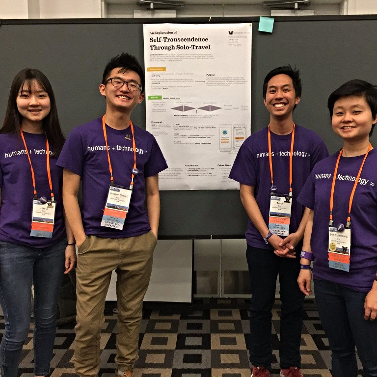 Undergraduate student team at the 2017 CHI Conference