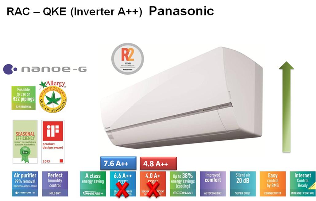 Најнови модели Panasonic inverter клима уреди за 2016-2017 год. серија QKE како и од РКЕ
