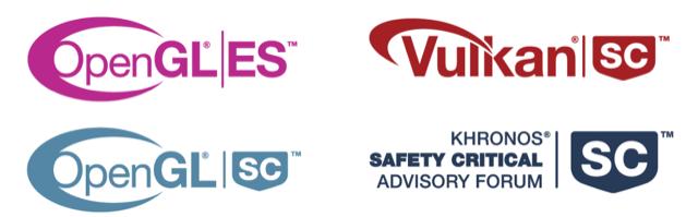 OpenGL KSCAF Vulkan Logos