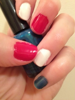 Red, White and Blue nail polish from NYC New York Color