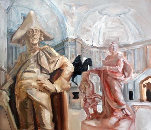 Bodemuseum, 90 x 100 cm, Öl/LW, 2014