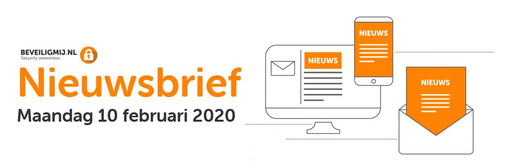 BeveiligMij.nl Nieuwsbrief | Maandag 10 februari 2020