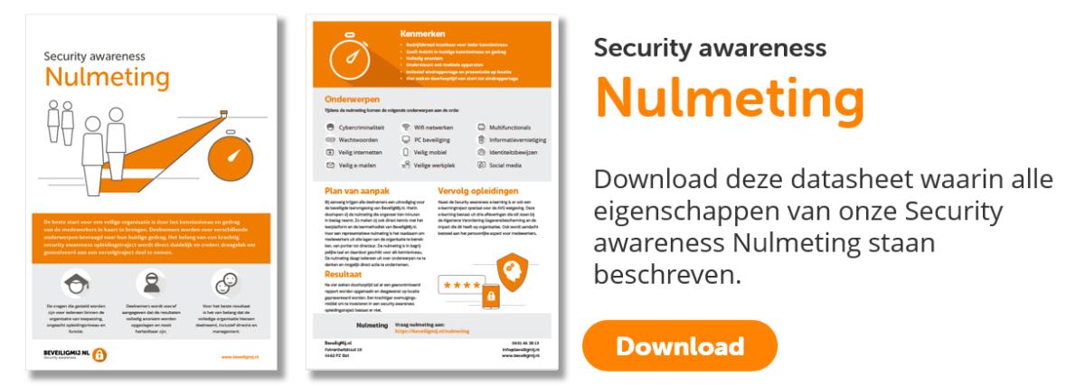 Security awareness Nulmeting | BeveiligMij.nl