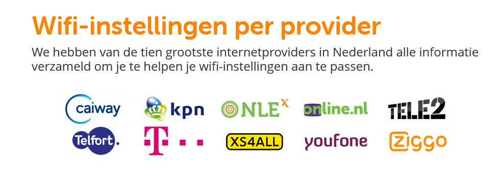 Wifi instellingen per provider | BeveiligMij.nl