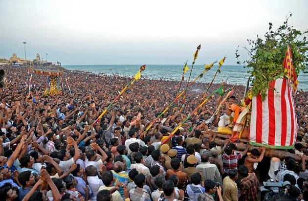 Surasamharam at Tiruchendur, Tamil Nadu