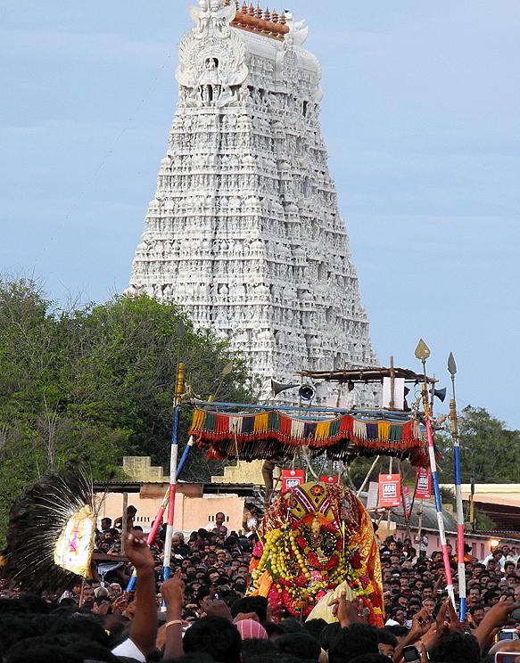 Soorasamharam en Tiruchendur
