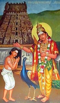 Arunagirinathar meets Murugan