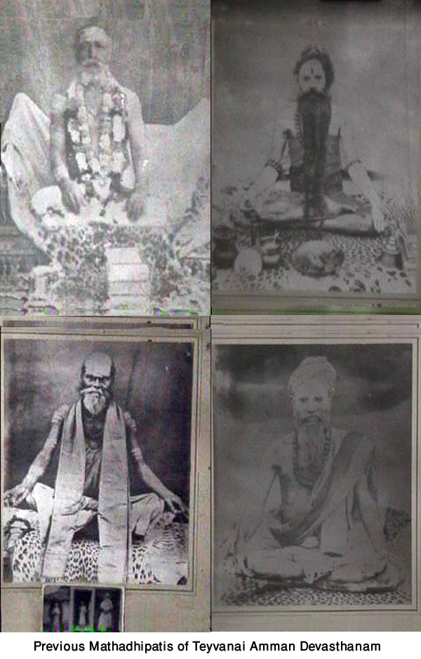 19th & early 20th Century mathadhipatis of Teyvanai Amman Devasthanam
