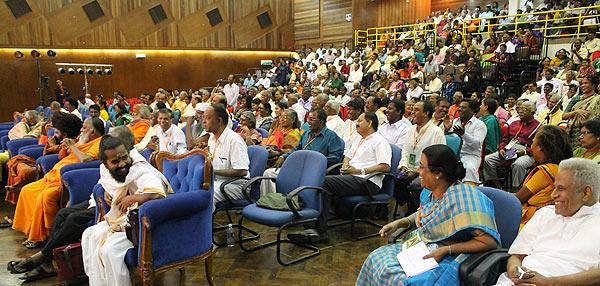 audience at 1st Muruga Bhakti conference, Kuala Lumpur