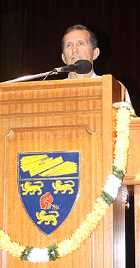 Patrick Harrigan addressing first Muruga Bhakti Conference