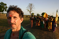 The author on Pāda Yātrā, July 2007