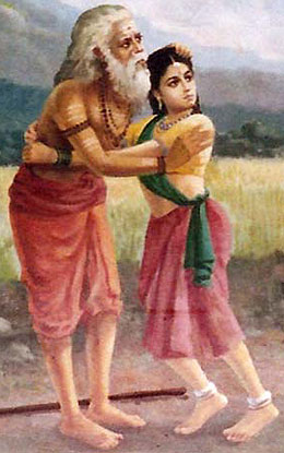 Valli and 'Old Man' Murugan