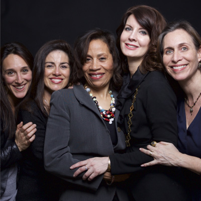 Founding co-chairs of World Without Exploitation: Lauren Hersh, Sonia Ossorio, Taina Bien-Aimé, Anne K. Ream, and Rachel Foster   photo: Lynn Savarese