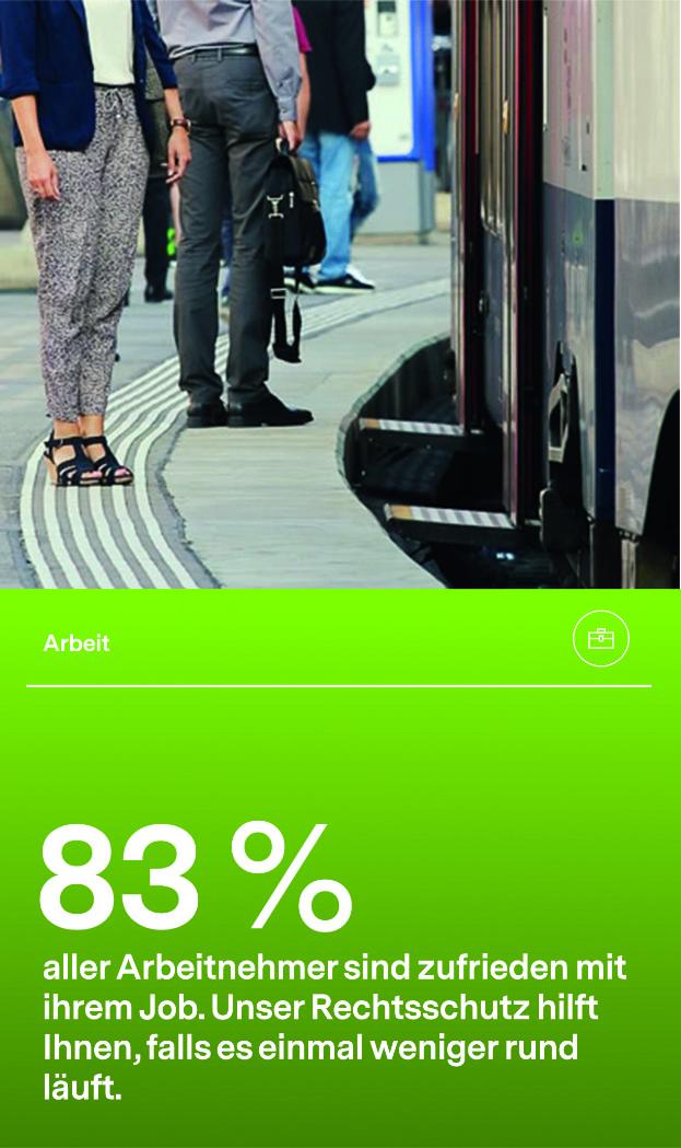 83% aller Arbeitnehmer sind zufrieden mit ihrem Job.