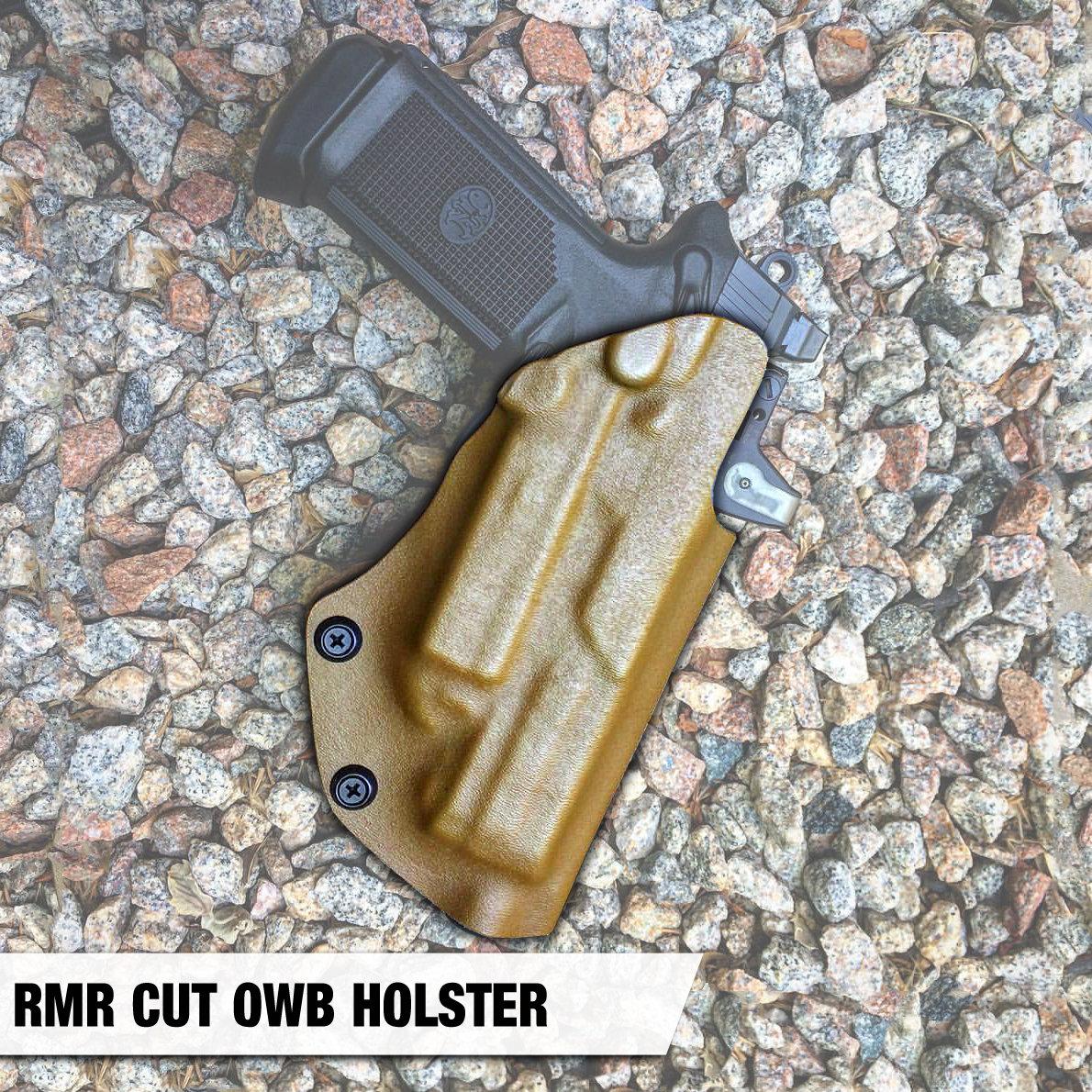 rmr, holster, rmr cut holster, owb holster, dara holsters, fnx 45 holster,