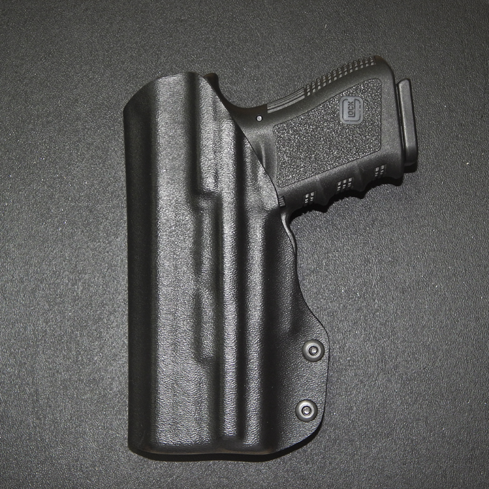 glock 19 with surefire xc-1 light attachment iwb holster