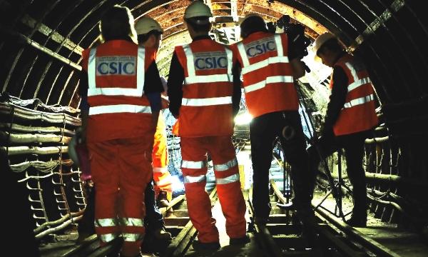 BBC film crew in smart tunnel