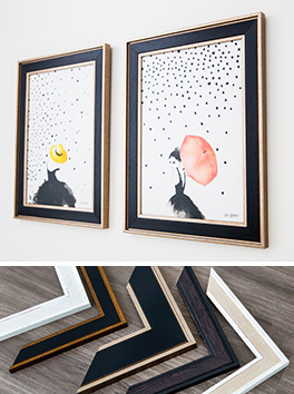Mainline's Starling Polcore framed pictures and chevrons