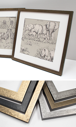 Picture frames and chevrons in our Alchemy range