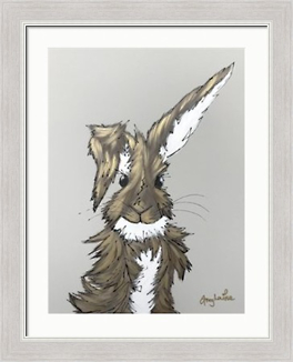Rabbit picture by Amy Louise framed in Mainline's Cornwall moulding