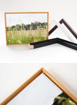 Landscape photograph framed in Floater moulding