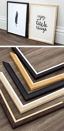 Prints framed in Mainline's Chester with chevrons below