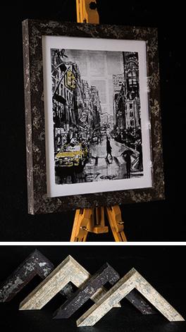 Picture on easel framed in Mainline's black Oxide moulding