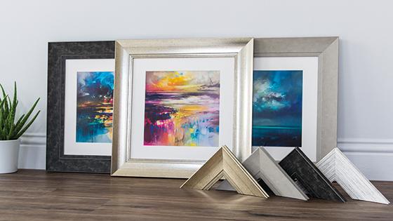 Abstract sky artworks framed in Mainline's Hamilton Polcore range