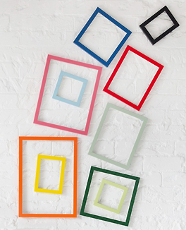 Funky display of brightly coloured Basics 20mm Flats mouldings