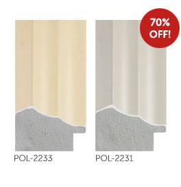 70% off Deco mouldings POL-2233 and POL-2231