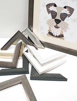 Dog picture framed in our Esteem range