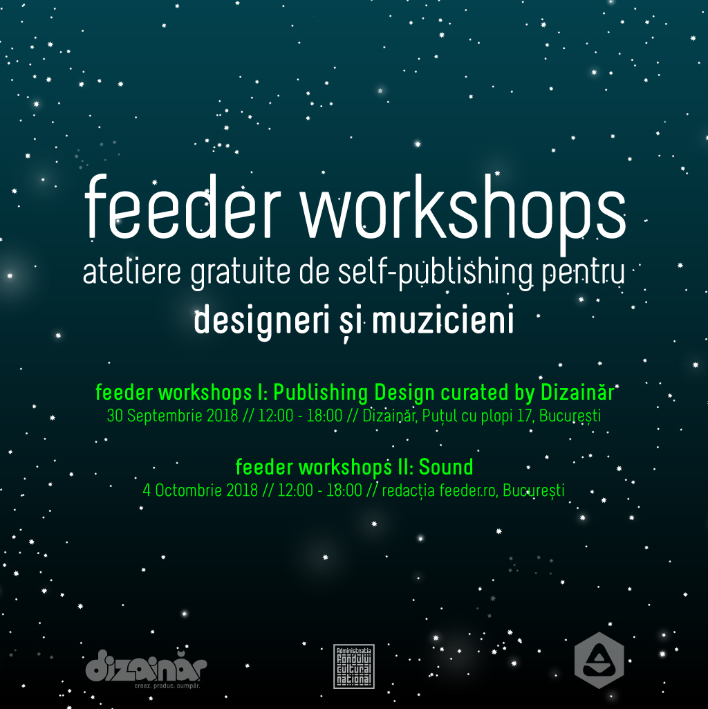 Join one of the 2 workshops and get your works self-published on feeder