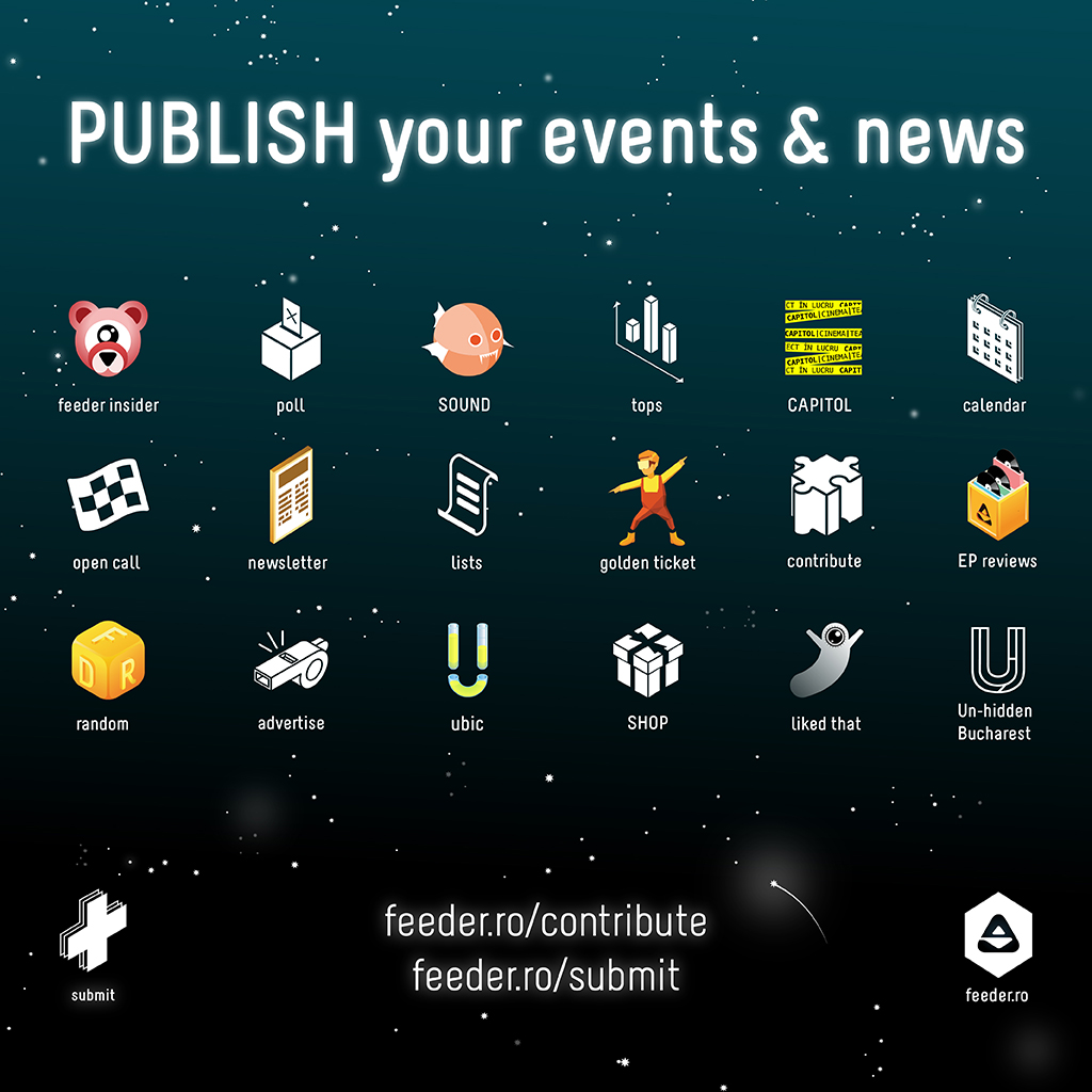 Publish your events & news on feeder.ro!