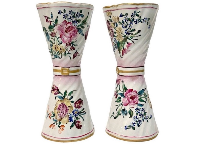 st-clement-french-faience-majolica-flower-vases-90p