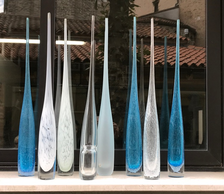 Tall-Murano-Glass-Vases-Various-Colors