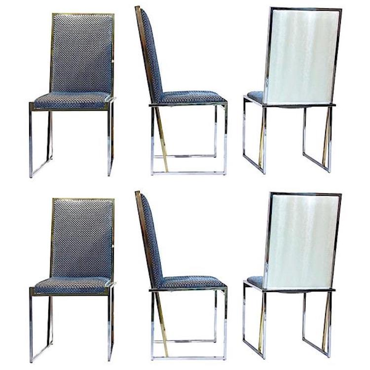/liwans-1970s-brass-chrome-chairs-blue-white-fabric