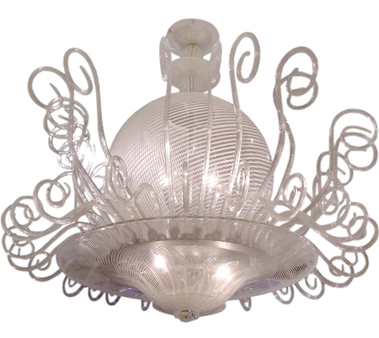 venini-white-reticello-glass-chandelier-544pd