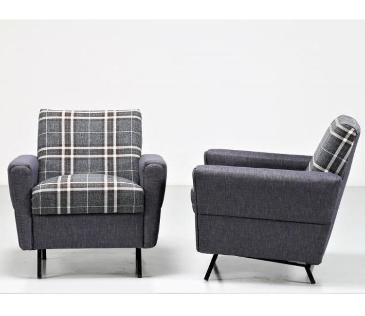 Italian-1960s-Armchairs-grey-fabric
