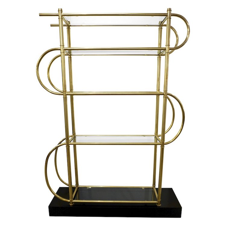 italian-modern-gold-brass-shelving-lacquered