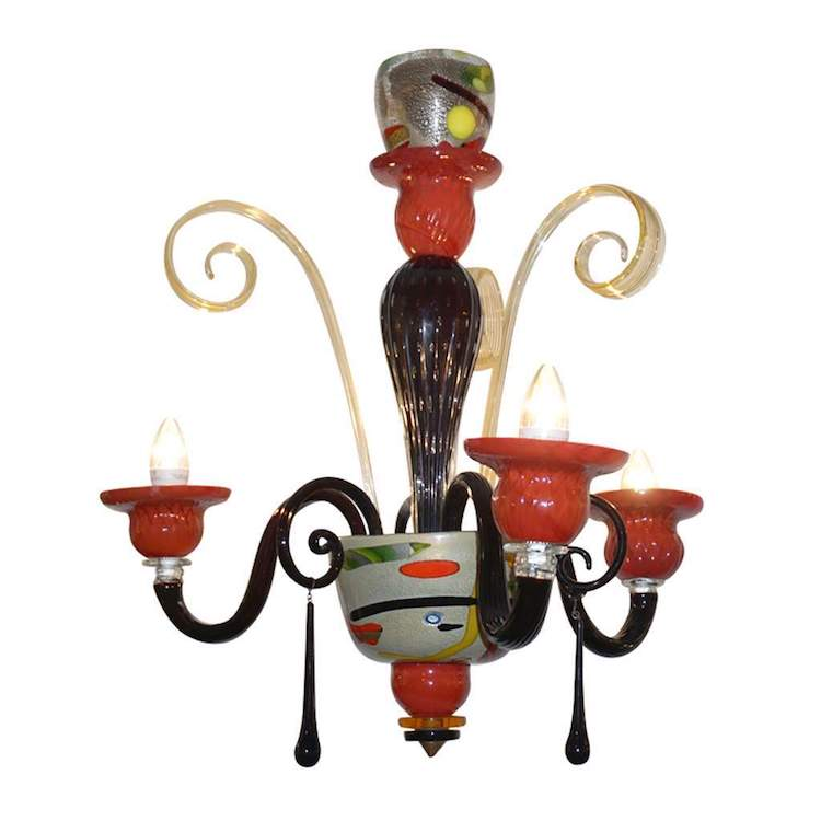 1970s-vintage-italian-design-black-red-gold-modern-murano-glass-chandelier