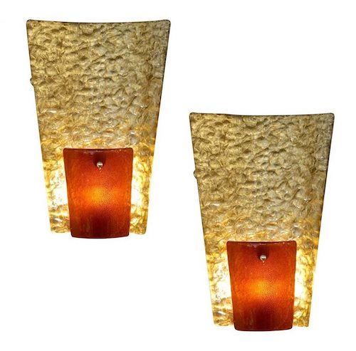 contemporary-italian-gold-amber-glass-827pd-organic-sconces