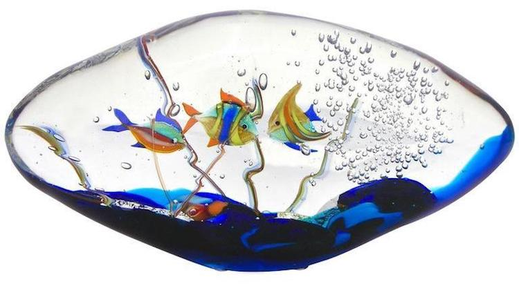blue-yellow-orange-green-murano-glass-oval-aquarium-sculpture