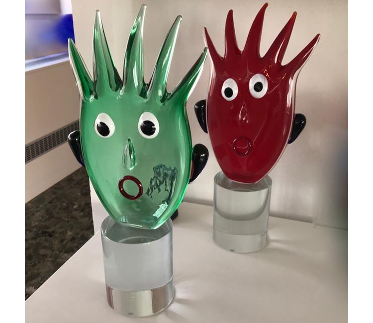 Green-Red-Murano-Art-Glass-Fun-Faces