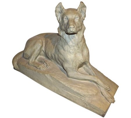 charles-virion-1920-sculpture-german-shepherd-dog