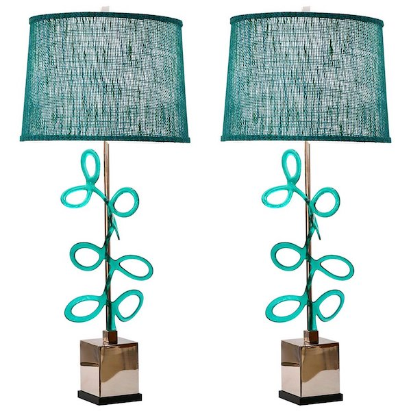 italian-nickel-lamps-aqua-murano-glass-swirls