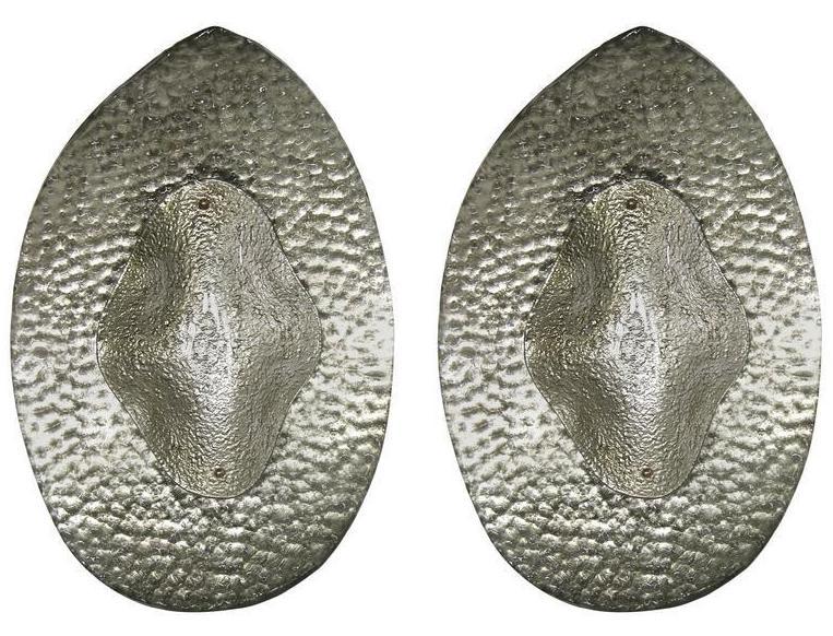italian-silver-textured-murano-glass-sconces