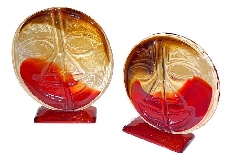 abstract-art-red-and-amber-murano-glass-round-faces