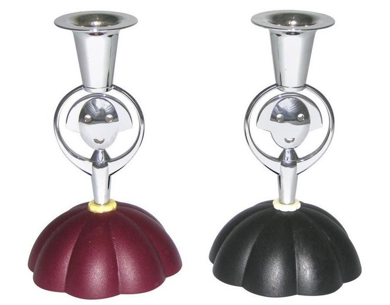 alessi-alessandro-mendini-1999-italian-pair-of-red-and-blue-chrome-candlesticks