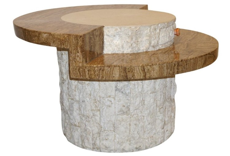 vintage-ivory-beige-stone-side-table