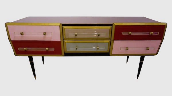 vintage-rose-pink-gray-wine-gold-sideboard-console